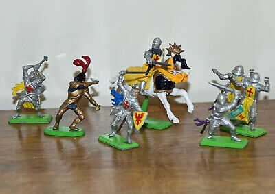 £8 • Buy Britains Deetail Knights Toy Soldiers X 7 Figures Inc One Mounted