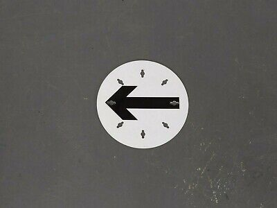 $6.92 • Buy British Army - Military - MOD - Traffic Route Marker Circle Direction Arrow Sign