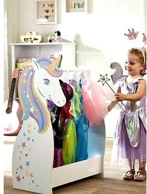 £49.99 • Buy Girls Wooden Unicorn Dressing Dress-Up Rail Personalised With Name Sophie