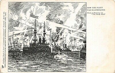 £4.50 • Buy Postcard  Ships - How The Fleet Was Illuminated - Spithead  Review 1902 - Tuck