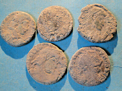 £2.20 • Buy Interesting Selection Of Five Uncleaned Roman Bronze Coins Mainly  As Dug .