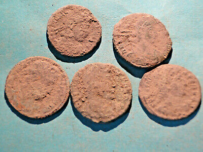£1.95 • Buy Interesting Selection Of Five Uncleaned Roman Bronze Coins Mainly  As Dug .