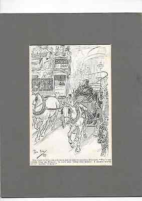 £12 • Buy Early 1899 Mounted Original Newsprint Sketch By Cartoonist Phil May. Bus Driver
