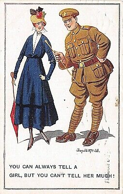 £4.90 • Buy POSTCARD COMIC DONALD McGILL - WWI -  TOMMY  - TELL A GIRL