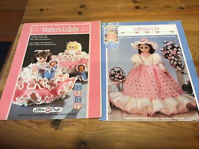 £5 • Buy 2 X Fibre Craft Dolls Clothing Knitting Patterns, Mother's Lullaby And Gwendolyn