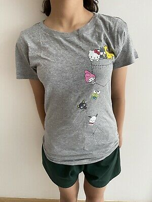 £5 • Buy Hello Kitty , My Melody & Friends Grey Soft Touch Cotton T Shirt XS