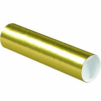 $75.62 • Buy Aviditi Gold Mailing Tubes With Caps 3 Inch X 12 Inch Pack Of 24 For Shipping...