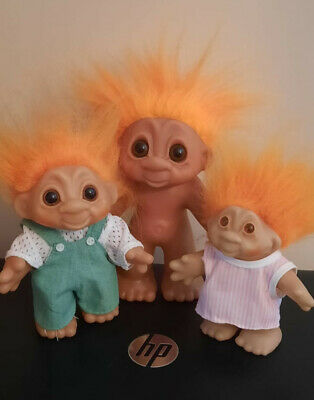 £9.99 • Buy X 3 Dam Trolls Of Different Sizes. All With Orange Hair
