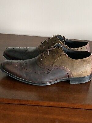 $18 • Buy Mens Kenneth Cole Dress Shoes Wingtips Brown Size 12 Leather And Suede Laceups