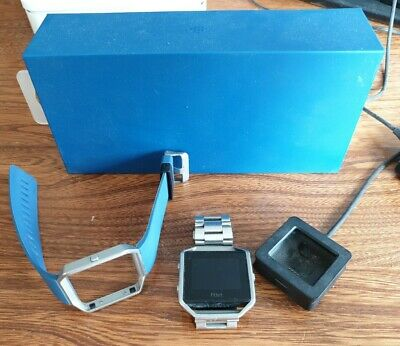 AU13.06 • Buy Fitbit Blaze With Stainless Steel & Silicone Straps, Charger - SEE DESCRIPTION