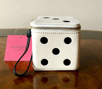 £122.95 • Buy Collectible NWT Kate Spade 3D ROLL THE DICE Leather Polka Dot Dice Wristlet Bag