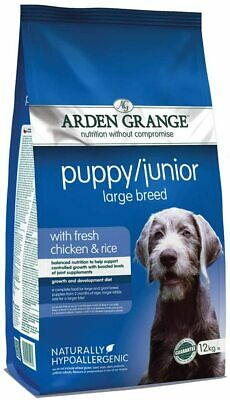 £26.94 • Buy Arden Grange Puppy/Junior Dog Food Large Breed With Fresh Chicken And Rice,12kg