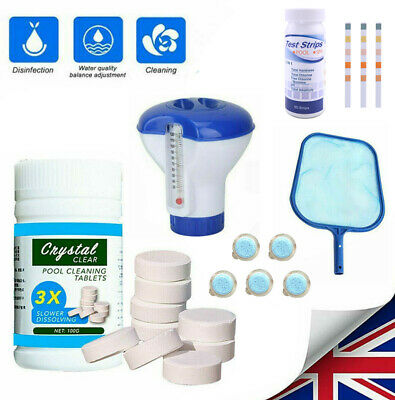 £15.59 • Buy Swimming Pool Hot Tub Chemical Dispenser Floating Chlorine Cleaning Tablets Kits