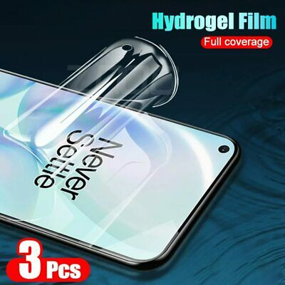 AU5.39 • Buy 3pcs Hydrogel Film Screen Protector For Oneplus 7 7T 6 Pro 8 Pro Protective Film