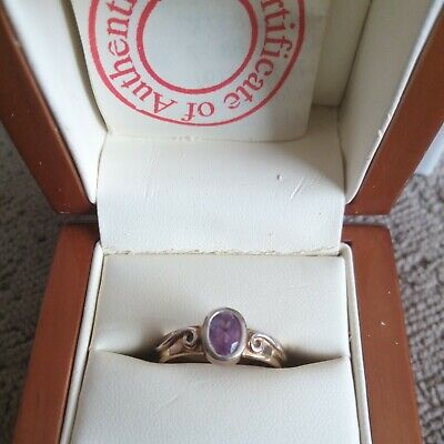 £84 • Buy Clogau 9ct Gold Ring With Silver Detail And Amethyst Stone, Size S