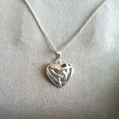 £28 • Buy Clogau Silver And Gold Heart Shaped Pendant With Silver Chain