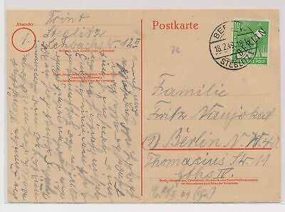 £0.72 • Buy LO07167 Germany 1949 Berlin Postcard With Nice Cancels Used