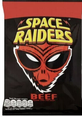 £11.87 • Buy Full Box Of 36 Packs X 25g Beef Flavour Space Raiders Crisps Corn Snack