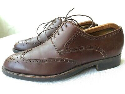 £20.89 • Buy 'Moreschi' Brown Leather Oxford Shoes US 8.5