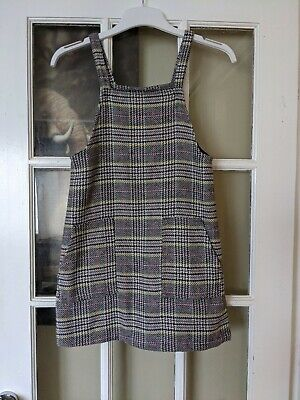 £2.30 • Buy Girls Next Knitted Checked Pinafore Dress Aged 10 Years