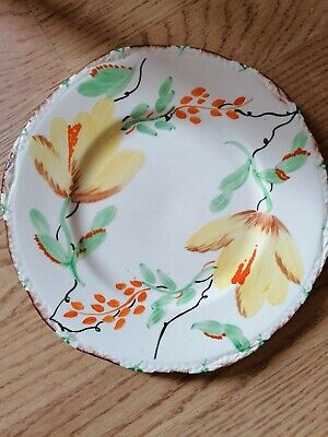 £12 • Buy Vintage - Parrot & Company -  Coronet Ware  - 9   Floral Plate