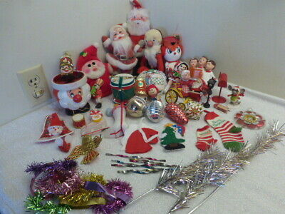 $ CDN56.65 • Buy Huge Lot Of Vintage Kitschy Christmas Decorations And Ornaments Crafts Lot 2