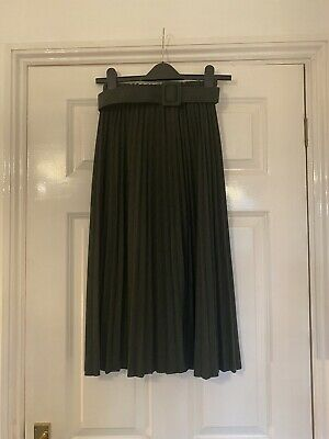 £2.50 • Buy Primark Knitted Look Green Pleated Skirt Size 4 BNWT