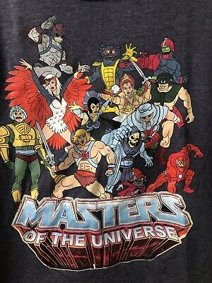 $25 • Buy MASTERS OF THE UNIVERSE - Full Cast - T-SHIRT - BRAND NEW & LICENSED - LARGE