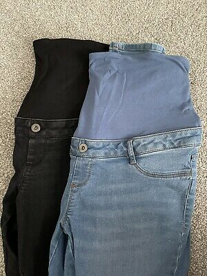 £7.85 • Buy 2x Dorothy Perkins Over Bump Maternity Jeans Size 12 Black Blue