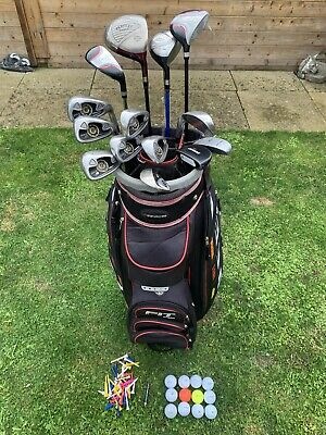 AU141.63 • Buy Full Set Of Mens Golf Clubs 4 Woods, 8 Irons, Chipper & Putter In Trolley Bag