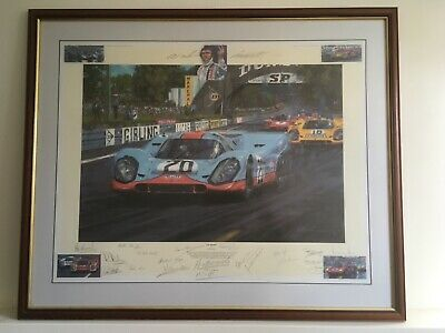 """£375 • Buy Nicholas Watts """"LE MANS 1970"""" Driver Signed Edition 10/500 Very Rare..."""