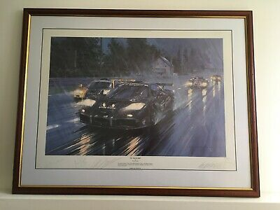 """£195 • Buy """"Le Mans 1995"""" Driver Signed Limited Edition Print By Nicholas Watts."""