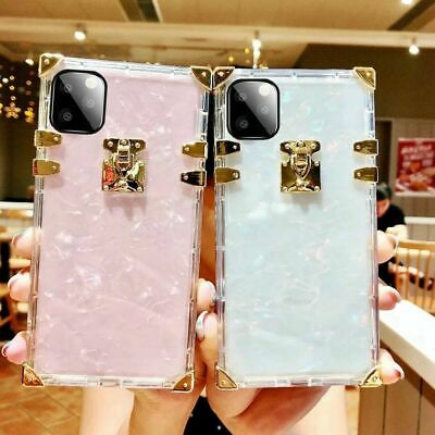 AU7.53 • Buy Luxury Marble Clear Square Phone Case For IPhone 11 12 Pro Max XR XS 7 8 Plus SE