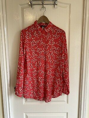 £14.95 • Buy Joules Long Pink Floral Shirt Blouse Size 10 BNWT