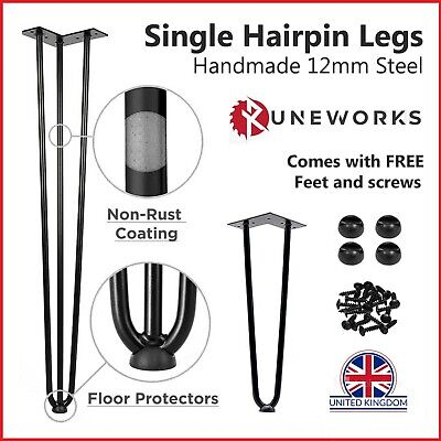£12.36 • Buy Hairpin Table Legs 10mm 12mm Steel 8  12  16  28  32  Furniture Table Desk Bench