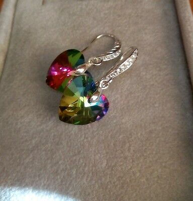 AU6.54 • Buy Unwanted Gift Sparkly Crystal Elements Earrings New