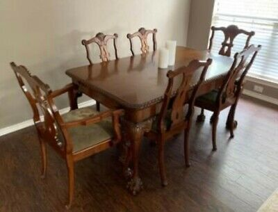 $750 • Buy Antique Dining Room Table And Chairs, Mahogany, 20th Century
