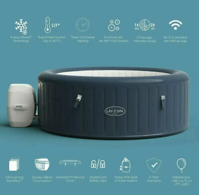 £699.99 • Buy Lay Z Spa Milan SmartWiFi Tub   6 Person   Hot Tub Jacuzzi🛁 IN HAND 48HRS DEL🚚