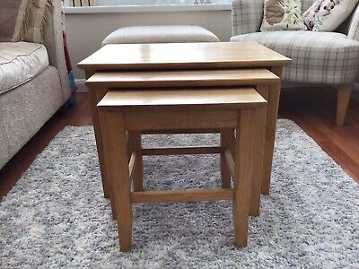 £40 • Buy Next Nest Of Tables Solid Oak
