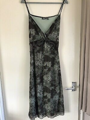 £5 • Buy Women's Mexx Strappy Brown & Green Dress Size M Excellent Condition