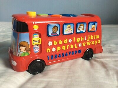 £4.50 • Buy VTech Red Playtime Bus With Phonics Numbers Educational Songs Learning VGC