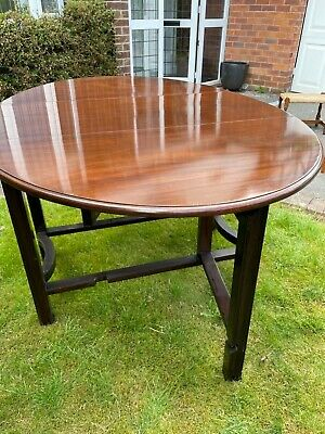 £0.99 • Buy Table Dark Wood Oval With Drop Leaf Sides