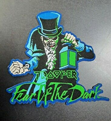 £5.50 • Buy Iron Maiden Trooper Beer PATCH Fear Of The Dark Shaped Eddie Laser Cut NEW Rare