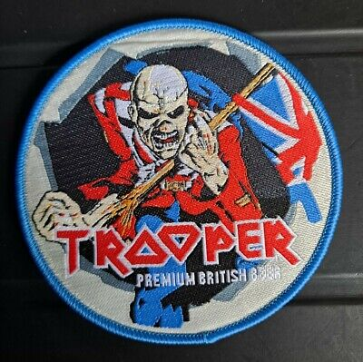 £5 • Buy Iron Maiden Trooper Beer PATCH Blue Border. Limited Edition Woven Sew On NEW
