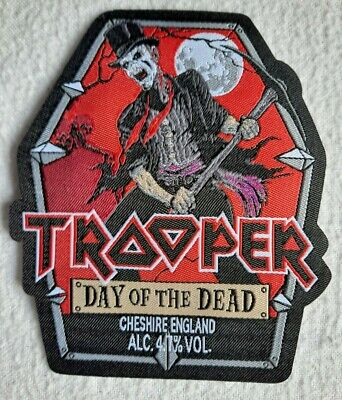 £5.50 • Buy Iron Maiden TROOPER BEER DAY Of The DEAD 2021 PATCH Cut Bottle Label HQ NEW