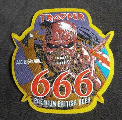 £5 • Buy Iron Maiden Trooper Beer PATCH 666 Limited Edition Cut To Pump Clip Shape. NEW