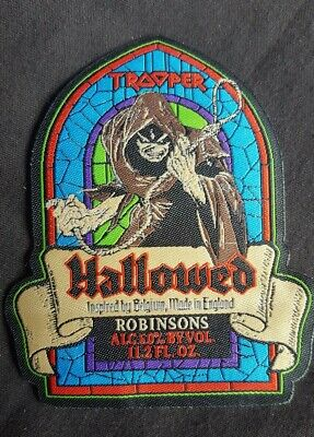 £5 • Buy Iron Maiden PATCH Trooper Beer Hallowed Be Thy Name SHAPED LASER CUT LABEL. NEW