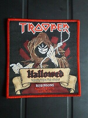 £5 • Buy Iron Maiden PATCH Trooper Beer Hallowed Be Thy Name. Red Border Square. NEW