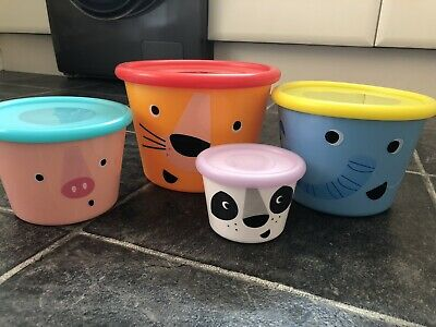 £5 • Buy Paperchase Tupperware Food Storage Boxes, Snacks, Animals