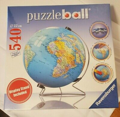 $24.99 • Buy Ravensburger 3D Jigsaw Puzzle Earth World Globe 540 Pcs With Stand 2007 NEW